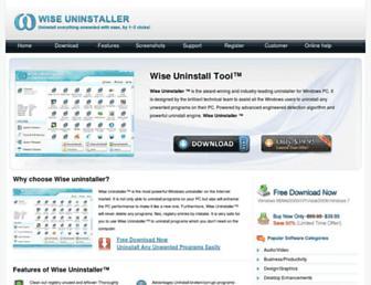 wiseuninstaller.com screenshot