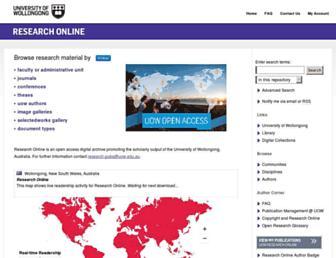 ro.uow.edu.au screenshot