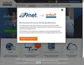 Main page screenshot of 9netweb.it