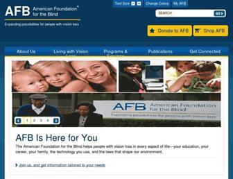 Main page screenshot of afb.org