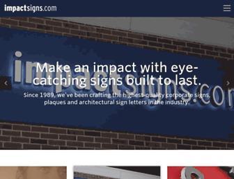 impactsigns.com screenshot