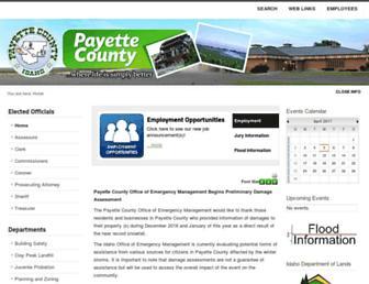 Main page screenshot of payettecounty.org