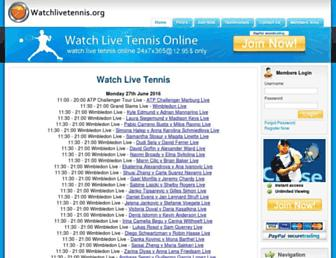 Thumbshot of Watchlivetennis.org