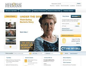 memorialhermann.org screenshot