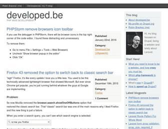 developed.be screenshot