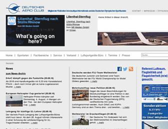 Main page screenshot of daec.de