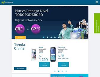 movistar.com.pe screenshot