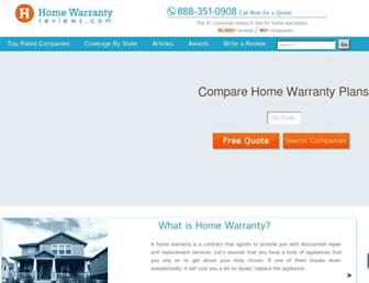 homewarrantyreviews.com screenshot