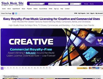 Thumbshot of Stockmusicsite.com