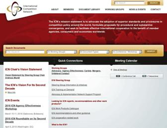 internationalcompetitionnetwork.org screenshot