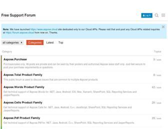 forum.aspose.com screenshot