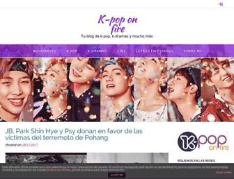 kpoponfire.com screenshot