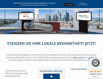 Main page screenshot of tvg-verlag.de