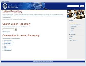 openaccess.leidenuniv.nl screenshot