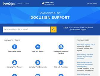 support.docusign.com screenshot