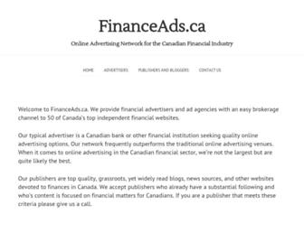 Thumbshot of Financeads.ca