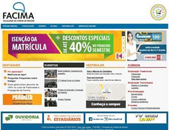 facima.edu.br screenshot
