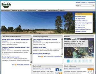 Main page screenshot of saanich.ca