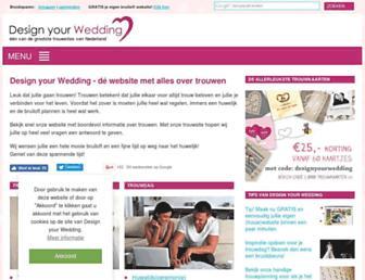 Main page screenshot of designyourwedding.nl