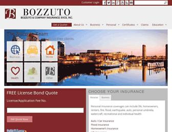 bozzutoinsurance.com screenshot