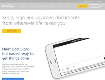 Thumbshot of Docusign.com