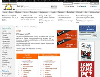 Main page screenshot of blog.seniorennet.be