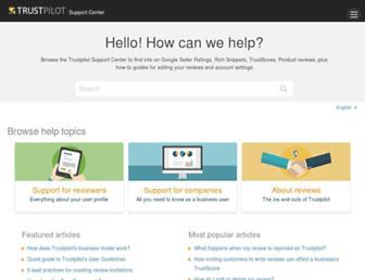 support.trustpilot.com screenshot