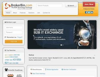 brokerbin.com screenshot