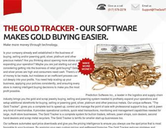 thegoldtracker.com screenshot
