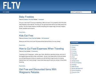 Main page screenshot of frugalliving.tv
