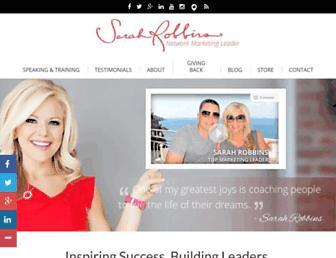 sarahrobbins.com screenshot