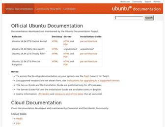 help.ubuntu.com screenshot