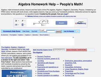 Thumbshot of Algebra.com