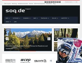 Main page screenshot of soq.de