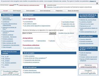 legifrance.gouv.fr screenshot