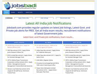 jobsbadi.com screenshot