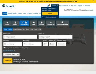 expedia.com screenshot