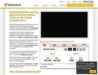 Thumbshot of Bullionvault.com