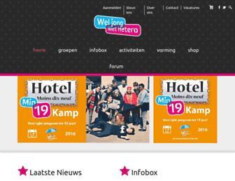 Main page screenshot of weljongniethetero.be
