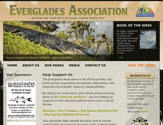 evergladesassociation.org screenshot