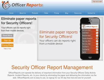officerreports.com screenshot