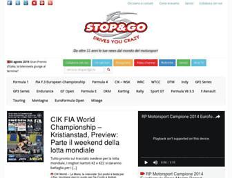 Main page screenshot of stopandgo.tv