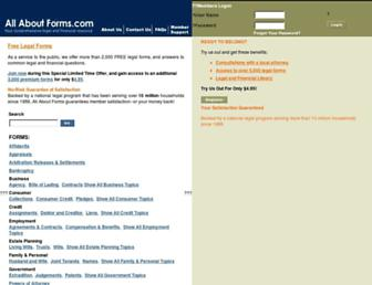 allaboutforms.com screenshot