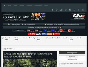 Main page screenshot of news.co.cr