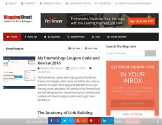 Thumbshot of Bloggingshout.com