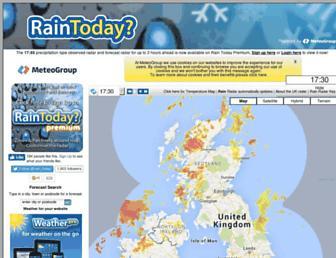 Thumbshot of Raintoday.co.uk