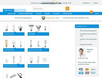 lampesdirect.fr screenshot