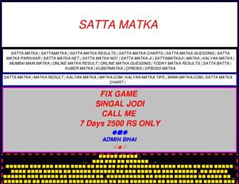 sattamatka77.in screenshot