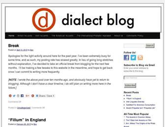 dialectblog.com screenshot