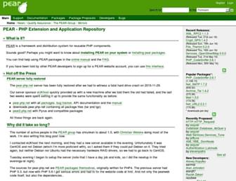 pear.php.net screenshot